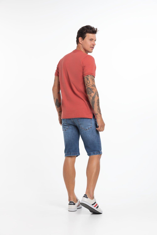 Bermuda Jeans Masculina Escura