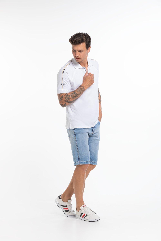 Camisa Polo Masculina Raglã