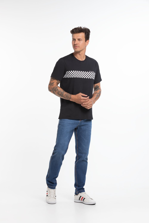 Camiseta Masculina Estampa Quadriculada