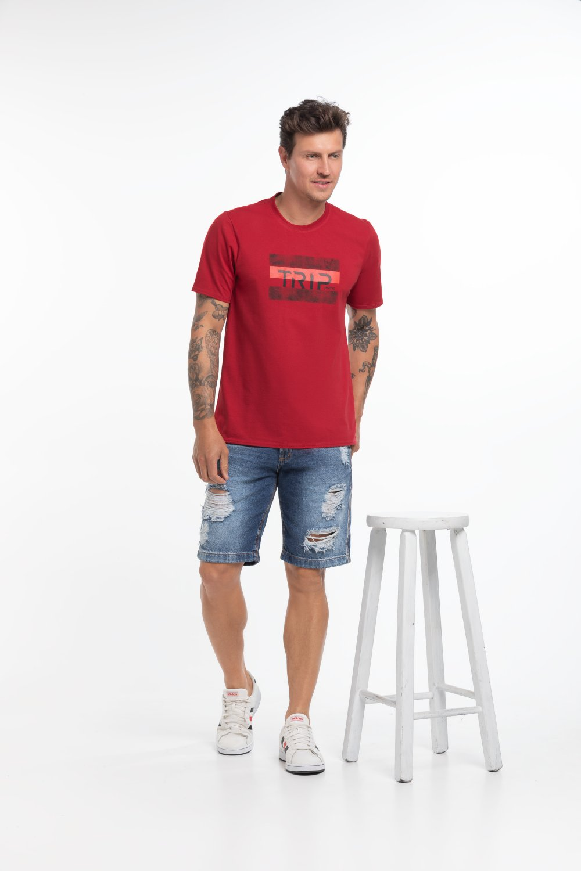 Camiseta Masculina Estampa Trip Jeans