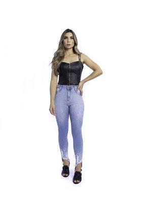 Calça Jeans Feminina Modeladora Cintura Alta Cigarrete Pérola