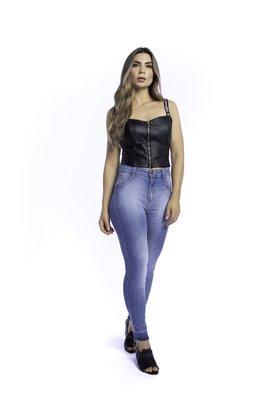 Calça Jeans Feminina Modeladora Cigarrete Barra Marcada