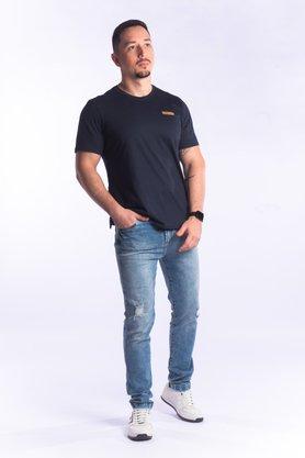 Calça Jeans Masculina Slim com Puídos