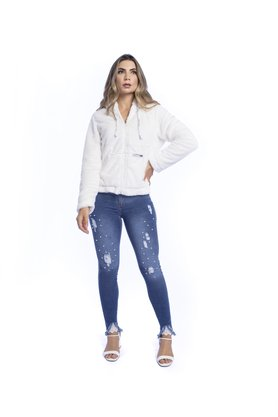 Jaqueta Feminina de Pele Luxury