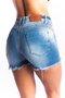 Short Jeans Feminino Modelador Cintura Alta Bigode 3D