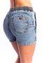 Short Jeans Feminino Confort Flic com Elástico