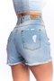 Short Jeans Feminino Mom Destroyed