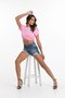 Shorts Modelador Trip Jeans barra assimétrica